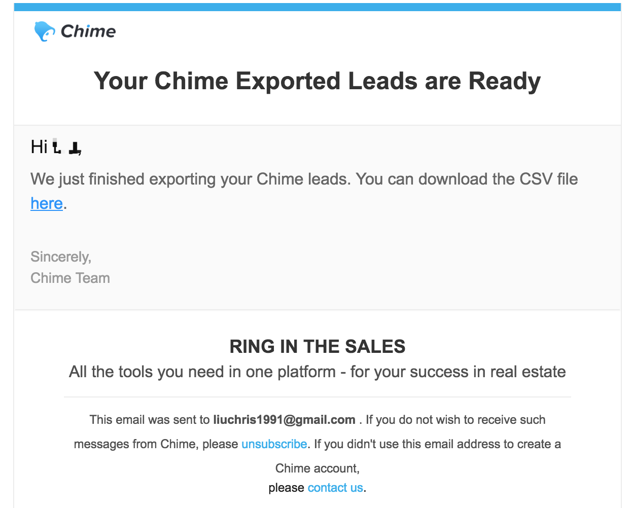 Export Leads from Chime – Brivity Help