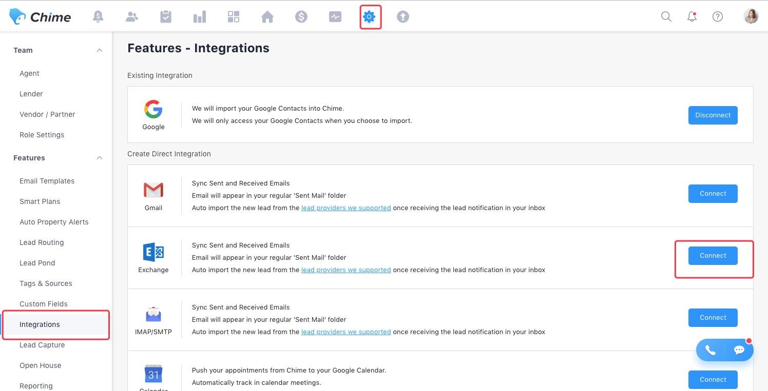 How to Integrate Exchange with Your Chime CRM – Chime