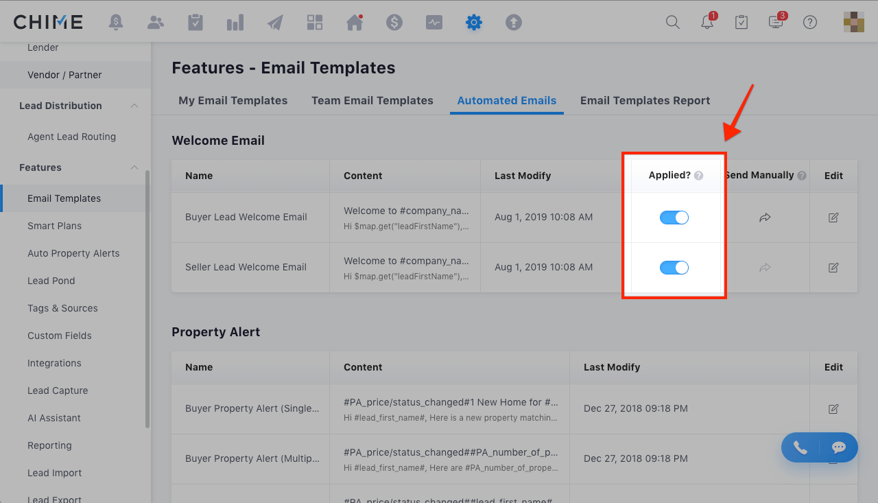 Set Up the Welcome Email – Chime Support (Chime Technologies